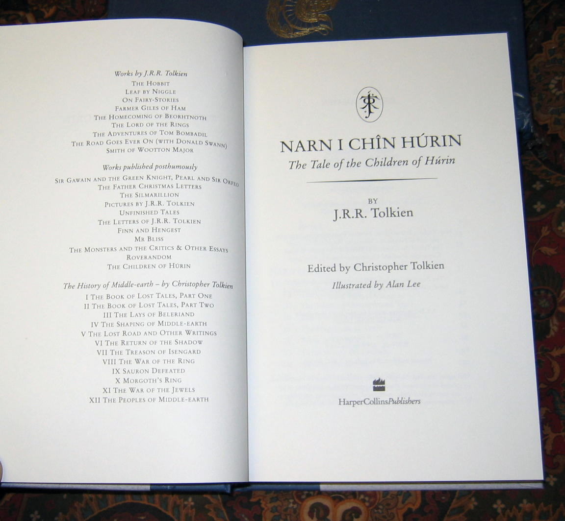 the children of hurin deluxe uk edition signed bookplate pictures click to enlarge